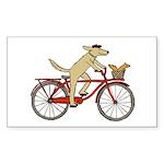 Dog & Squirrel Sticker (Rectangle 50 pk)
