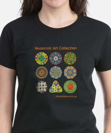 Modernist Art Collection Women's Dark T-Shirt