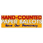 Hand-Counted Paper Ballots Bumper Sticker