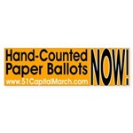 Hand-Counted Paper Ballots NOW! Bumper Sticker