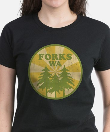 Forks, WA Women's Dark T-Shirt
