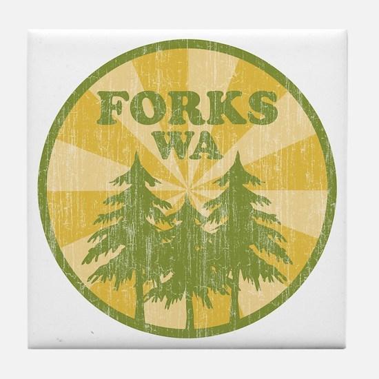 Forks, WA Tile Coaster