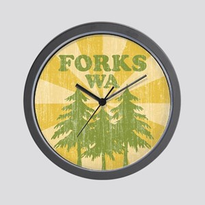 Forks, WA Wall Clock