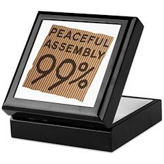 peaceful 99% cardboard Keepsake Box