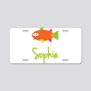 Sophie is a Big Fish Aluminum License Plate
