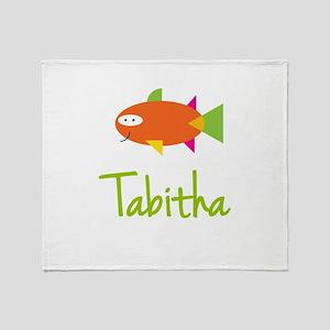 Tabitha is a Big Fish Throw Blanket