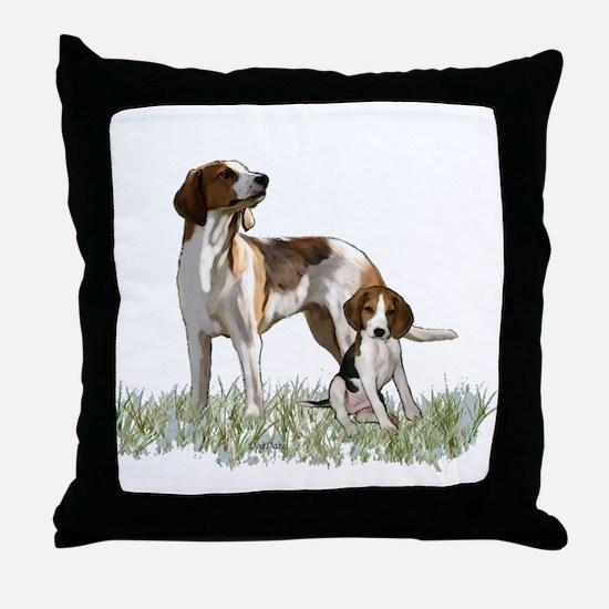 walker coon Hound Throw Pillow