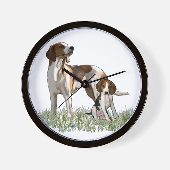 walker coon Hound Wall Clock