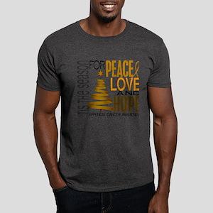 Christmas 1 Appendix Cancer Dark T-Shirt