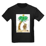 Desert Island Christmas Kids Dark T-Shirt