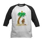 Desert Island Christmas Kids Baseball Jersey