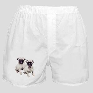 Pugs sitting Boxer Shorts