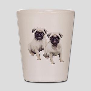 Pugs sitting Shot Glass