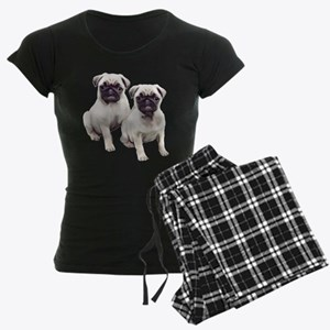 Pugs sitting Women's Dark Pajamas