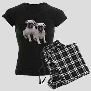 Pugs sitting Women's Dark Pajamas