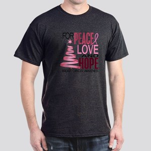 Christmas 1 Breast Cancer Dark T-Shirt