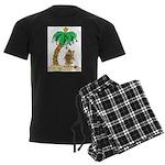 Desert Island Christmas Men's Dark Pajamas