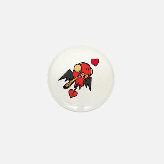 Winter Cupid Mini Button