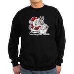 Santa & Greyhound Sweatshirt (dark)