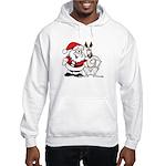 Santa & Greyhound Hooded Sweatshirt