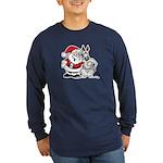 Santa & Greyhound Long Sleeve Dark T-Shirt