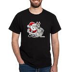 Santa & Greyhound Dark T-Shirt