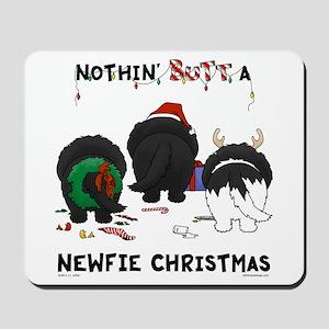 Newfie Butt Xmas Mousepad
