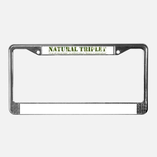 Natural Triplet License Plate Frame