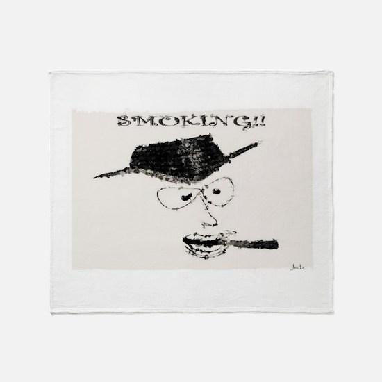 Jmcks Smoking Cowboy Throw Blanket