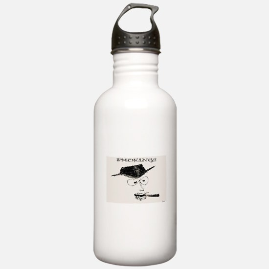 Jmcks Smoking Cowboy Water Bottle