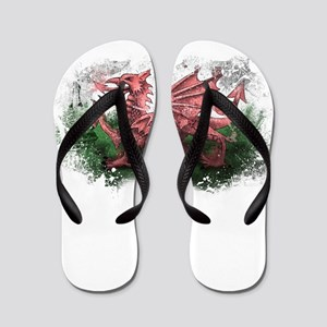 Welsh Flag Flip Flops