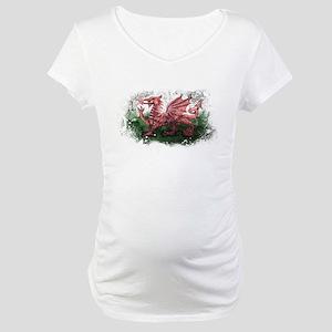 Welsh Flag Maternity T-Shirt