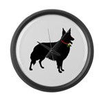 Christmas or Holiday Collie Silhouette Large Wall