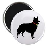 Christmas or Holiday Collie Silhouette Magnet