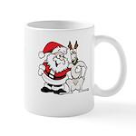 Santa & Greyhound Mug