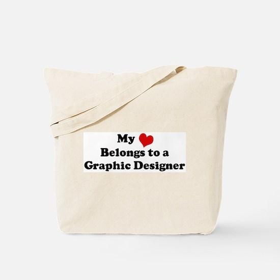 Heart Belongs: Graphic Design Tote Bag