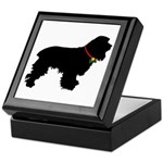 Christmas or Holiday Cocker Spaniel Silhouette Kee