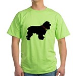 Christmas or Holiday Cocker Spaniel Silhouette Gre