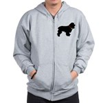 Christmas or Holiday Cocker Spaniel Silhouette Zip