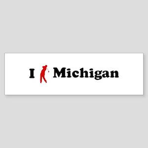 I Golf Michigan Bumper Sticker