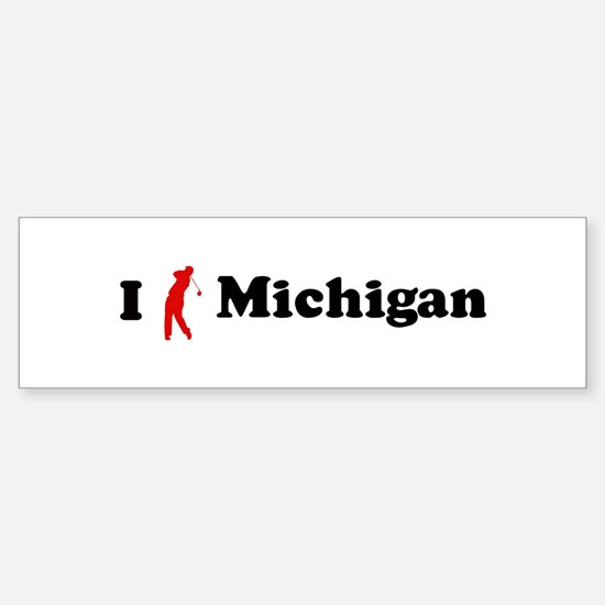 I Golf Michigan Bumper Bumper Bumper Sticker