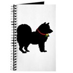 Christmas or Holiday Chow Chow Silhouette Journal