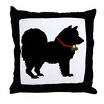 Christmas or Holiday Chow Chow Silhouette Throw Pi