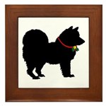 Christmas or Holiday Chow Chow Silhouette Framed T