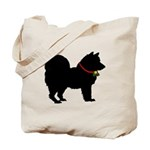 Christmas or Holiday Chow Chow Silhouette Tote Bag