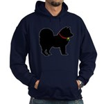 Christmas or Holiday Chow Chow Silhouette Hoodie (