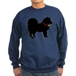 Christmas or Holiday Chow Chow Silhouette Sweatshi