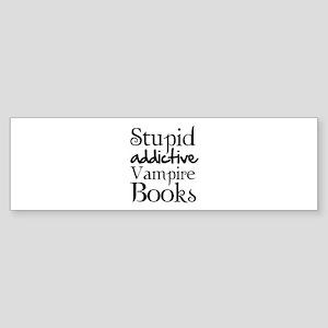 Stupid addictive vampire books Sticker (Bumper)