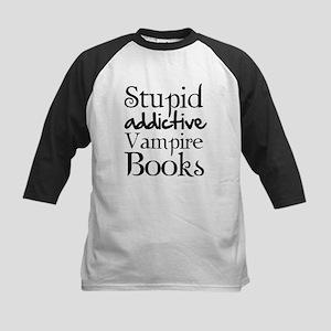Stupid addictive vampire books Kids Baseball Jerse