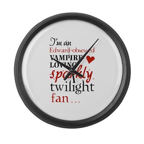 Vampire-loving sparkly twilight fan Large Wall Clo